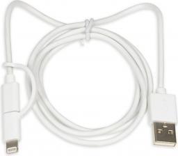 Kabel USB iBOX 2w1 MicroUSB/Lightning MFi (IKUML2W1)