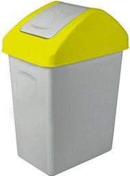 Kosz na śmieci Branq do segregacji uchylny 10L żółty (BRA000133)