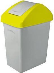 Kosz na śmieci Branq do segregacji uchylny 25L żółty (BRA000147)