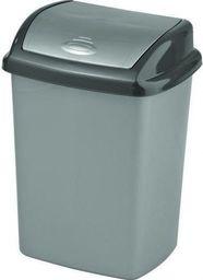 Kosz na śmieci Curver Dominik uchylny 25L srebrny (CUR000082)