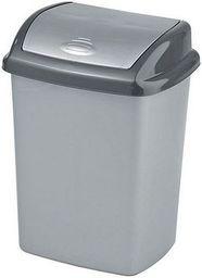 Kosz na śmieci Curver Dominik uchylny 10L srebrny (CUR000265)