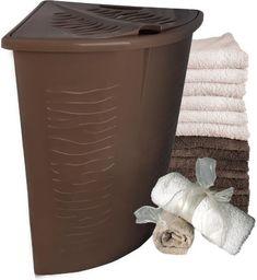 Kosz na pranie Branq Zebra 45L czekolada (BRA000148)