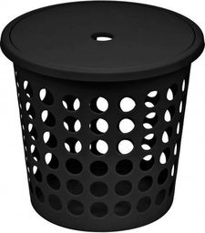 Kosz na pranie Plast Team Medium 45L czarny (TEA000286)