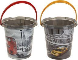Wiadro Plastik 12l Z Nadrukiem New York Londyn