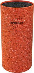 KingHoff Stojak na noże z powłoką marmurową pomarańczowy (KH-1120)