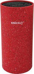 KingHoff Stojak na noże z powłoką marmurową czerwony (KH-1093)