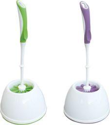 York Szczotka do WC Prestige stojąca zielony + fiolet 2szt. (3064050-003256)