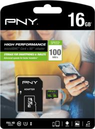 Karta MicroSD PNY Technologies 16GB High Perf.