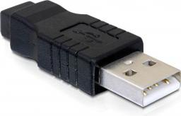 Adapter USB Delock Mini USB-USB Czarny (65094)