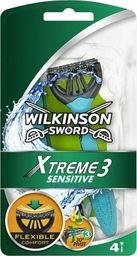 Wilkinson Sword MASZYNKI JEDNOCZĘŚCIOWE XTREME3 SENSITIVE /3+1 szt.