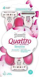 Wilkinson Sword MASZYNKI JEDNOCZĘŚCIOWE QUATTRO FOR WOMEN SENSITIVE /3 szt.