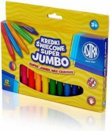 Astra Kredki Świecowe Super Jumbo 12 Kolorów