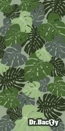 DRBACTY Ręcznik szybkoschnący Liście zielony 70x140 cm (DRC-XL-LISCIE)