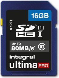 Karta Integral SDHC Integral Ultimapro - Pamięci 16gb Sdhc/xc 80mb/s Class 10 Uhs-i U1
