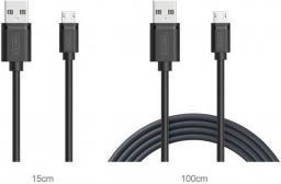 Kabel USB Unitek Unitek c4050 zestaw 2-in-1 microUSB-USB 1m + 15cm