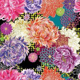 Museums & Galleries Karnet kwadrat z kopertą Asian Floral