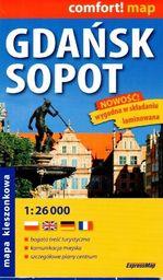 Comfort!map Gdańsk,Sopot 1:26 000 plan, midi 2018