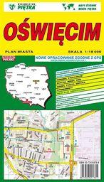 Oświęcim 1:18 000 plan miasta PIĘTKA