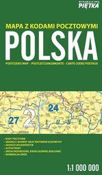 Polska 1:1 000 000 mapa z kodami pocztowymi PIĘTKA