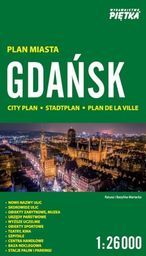 Gdańsk 1:26 000 plan miasta PIĘTKA