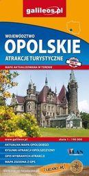 Mapa atrakcji tur. -Województwo Opolskie 1:190 000