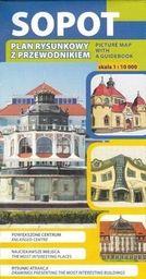 Plan rysunkowy z przewodnikiem - Sopot