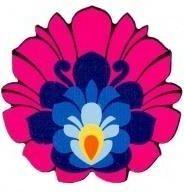 Folkstar Magnes drewniany - kwiatek łowicki FOLKSTAR