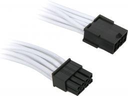 BitFenix Przedłużacz 8-Pin PCIe 45cm - opływowy biało czarny (BFA-MSC-8PEG45WK-RP)