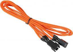 BitFenix Przedłużacz do wentylatorów 3-Pin 60cm - opływowy pomarańczowo czarny (BFA-MSC-3F60OK-RP)