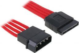 BitFenix Przejściówka Molex na SATA 45cm - opływowa czerwono czarna (BFA-MSC-MSA45RK-RP)