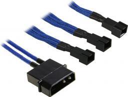 BitFenix Rozgałęźnik 3-Pin na 3x 3-Pin 20cm - opływowy niebiesko czarny (BFA-MSC-M33F12VBK-RP)