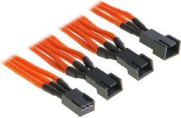 BitFenix rozgałęźnik 3-Pin na 3x 3-Pin 60cm opływowy pomarańczowo czarny (BFA-MSC-3F33F60OK-RP)