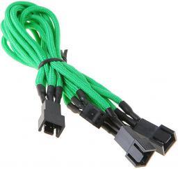 BitFenix Rozgałęźnik 3-Pin na 3x 3-Pin 60cm - opływowy zielono czarny (BFA-MSC-3F33F60GK-RP)