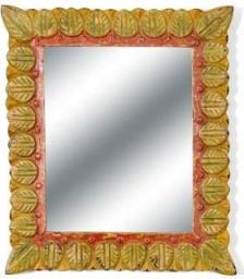 Belldeco Sahara Lustro W Kolorowej Ramie Liście 30x3x35