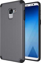 Hurtel Light Armor Case wytrzymałe etui pokrowiec Samsung Galaxy A8 2018 A530 szary