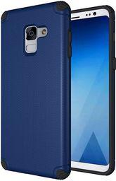 Hurtel Light Armor Case wytrzymałe etui pokrowiec Samsung Galaxy A8 2018 A530 granatowy