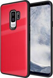 Hurtel Tempered Glass Case etui pokrowiec nakładka ze szkła hartowanego Samsung Galaxy S9 Plus G965 czerwony