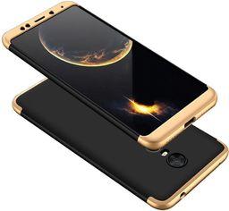 Hurtel 360 Protection etui na całą obudowę przód + tył Xiaomi Redmi 5 Plus / Redmi Note 5 (single camera) czarno-złoty