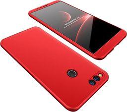 Hurtel 360 Protection etui na całą obudowę przód + tył Huawei Honor 7X czerwony