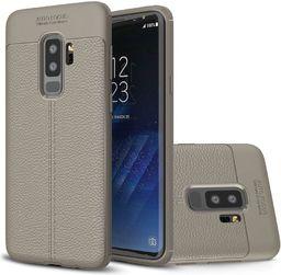 Hurtel Litchi Pattern elastyczne etui pokrowiec Samsung Galaxy S9 Plus G965 szary