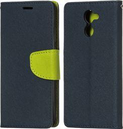 Hurtel Fancy Case etui pokrowiec z funkcją podstawki Huawei Y7 granatowy