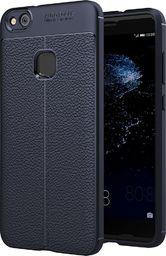 Hurtel Litchi Pattern elastyczne etui pokrowiec Huawei P10 Lite niebieski