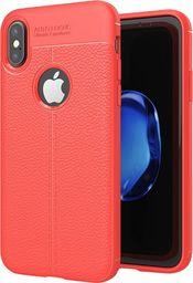 Hurtel Litchi Pattern elastyczne etui pokrowiec iPhone X czerwony