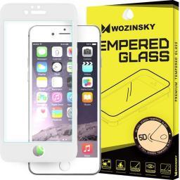 Wozinsky Szkło hartowane 5D Full Glue iPhone 6S / 6 PRO+ super wytrzymała osłona na cały ekran z ramką biały