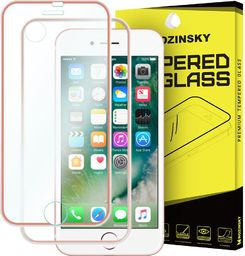 Wozinsky Szkło hartowane iPhone 8 / 7 Wozinsky osłona na cały ekran oraz nakładką na tył z aluminiową ramką różowy