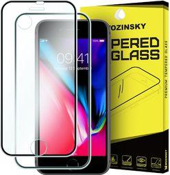 Wozinsky Szkło hartowane iPhone 8 / 7 Wozinsky osłona na cały ekran oraz nakładką na tył z aluminiową ramką czarny