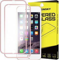 Wozinsky Szkło hartowane iPhone 6S / 6 Wozinsky osłona na cały ekran oraz nakładką na tył z aluminiową ramką różowy