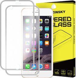 Wozinsky Szkło hartowane iPhone 6S / 6 Wozinsky osłona na cały ekran oraz nakładką na tył z aluminiową ramką srebrny