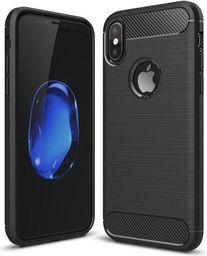 Hurtel Etui iPhone X Carbon Case elastyczne pokrowiec czarny