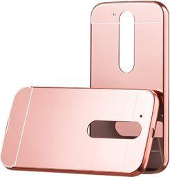 Hurtel Aluminiowy pokrowiec etui Metal Mirror Bumper Motorola Moto G4 różowy